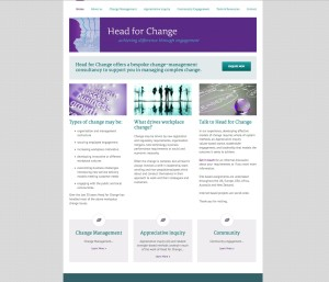 HEAD FOR CHANGE HOME PAGE
