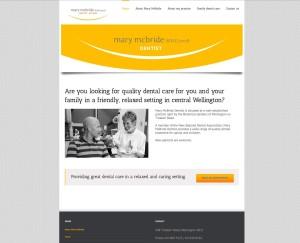 Mary McBride Dentist home page