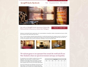 Springhill Apartments website home page
