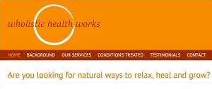 Wholistic Health Works home page crop