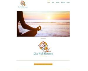 Live Well Retreats web