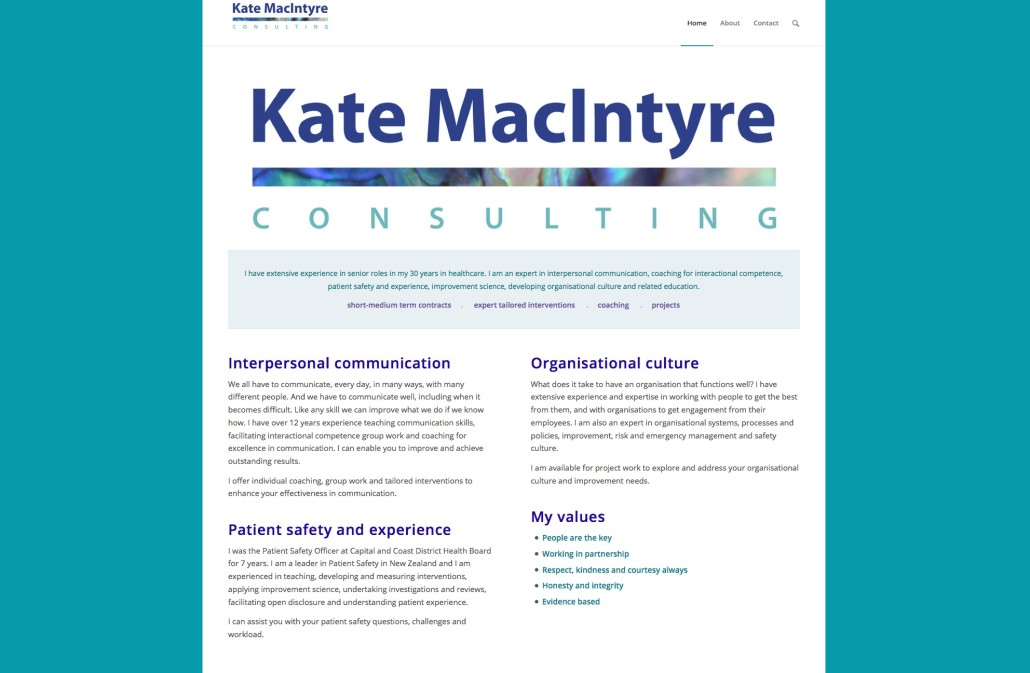 Kate MacIntyre Consulting home page